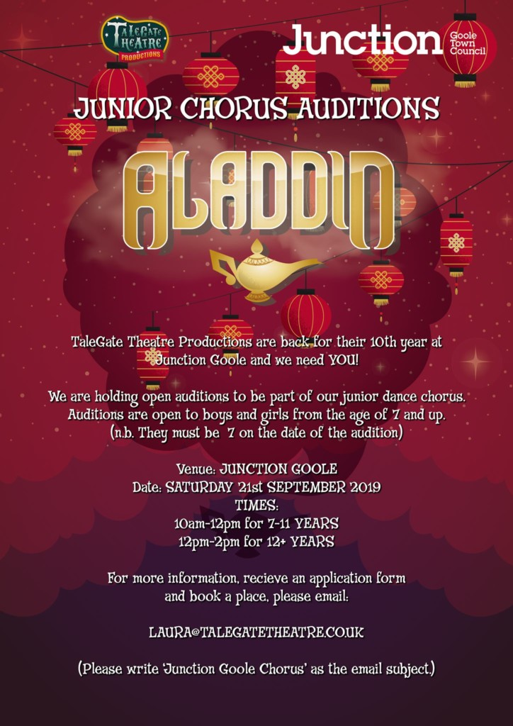 Pantomime Youth Chorus Auditions – Junction Theatre, Goole
